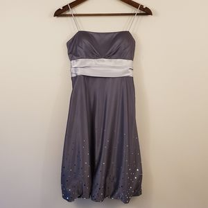 Silver and gray formal dress size 5/6